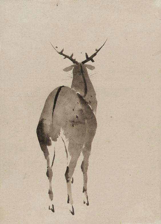 Katsushika Hokusai, Deer, Edo period Jap...