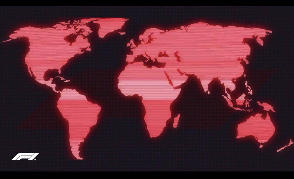 F1公式映像OPに表示される世界地図から、日本列島🇯🇵がごっそり抜け落ちてると話...