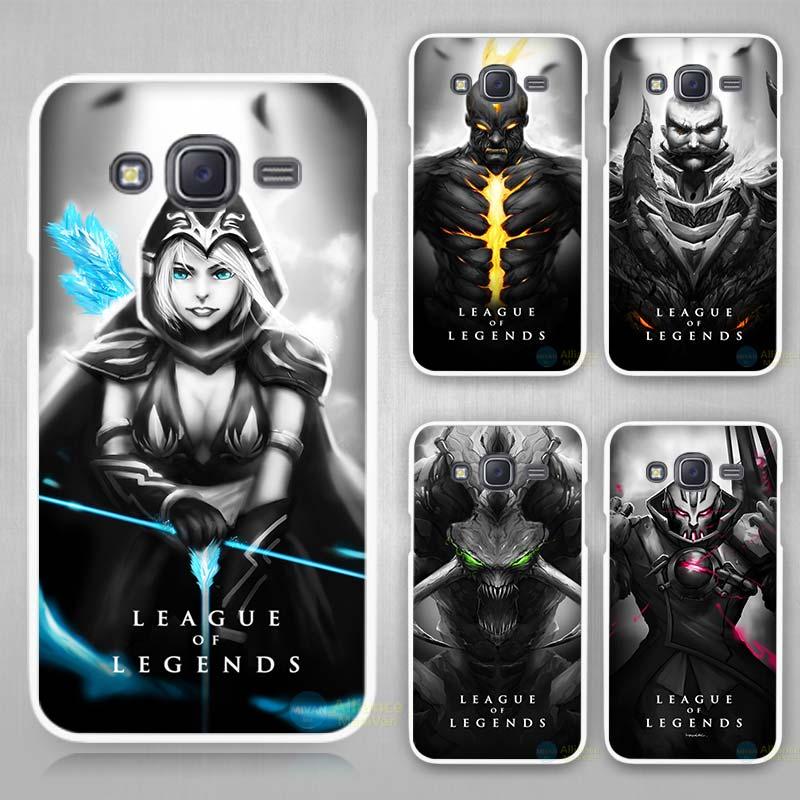 #LoL League of Legends dark White Case Cover for Samsung Galaxy J1 J2 J3 J5 J...