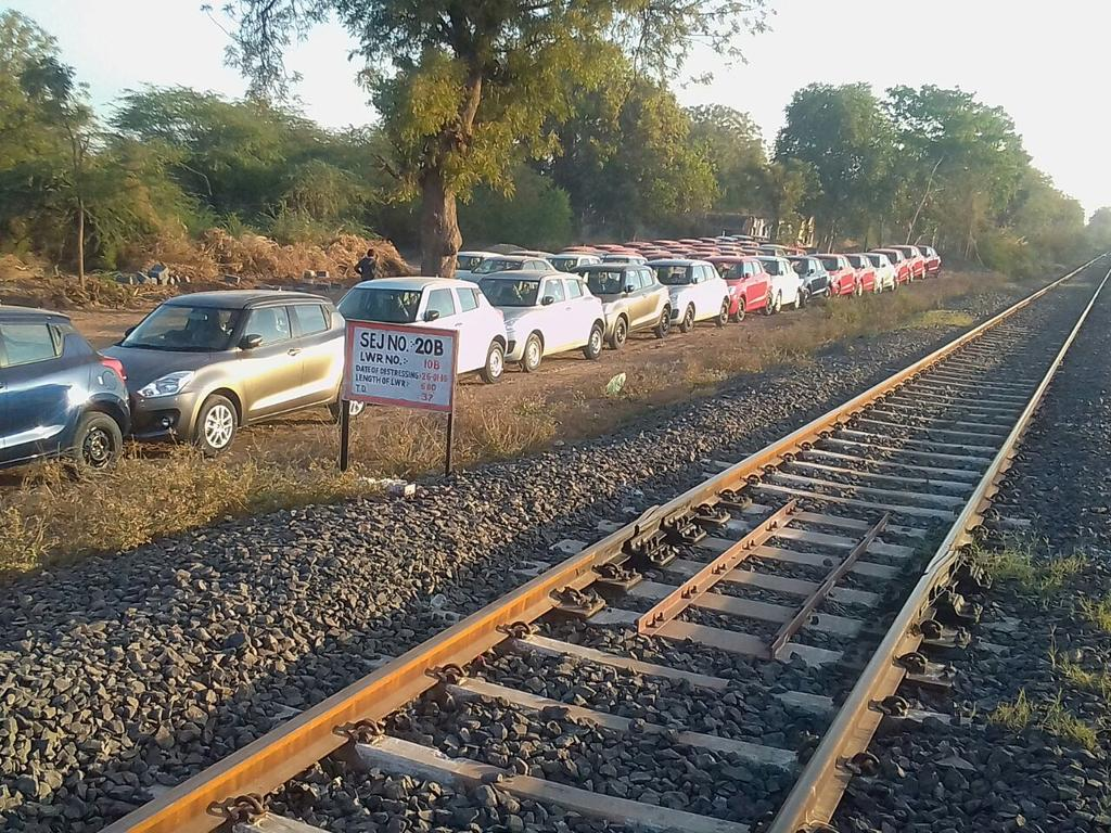 First train from Detroj carrying Maruti cars to leave on Saturday