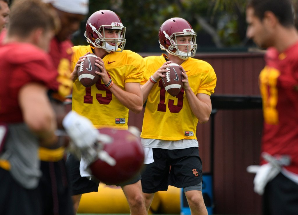 USC's quarterback competition tested in first full-pads practices https://t.co/HyNjrvrH47