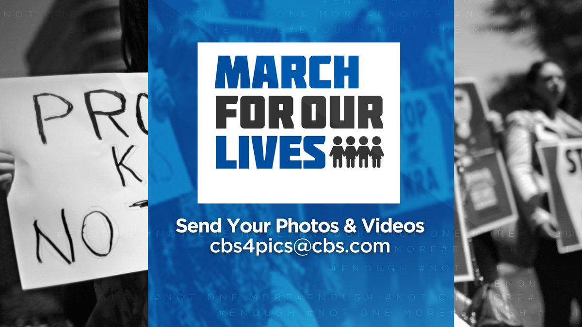 If you're planning on going to a #MarchForOurLives event tomorrow, send us your pics. Share your experience with us.  @AMarch4OurLives #NeverAgain #MSDStrong