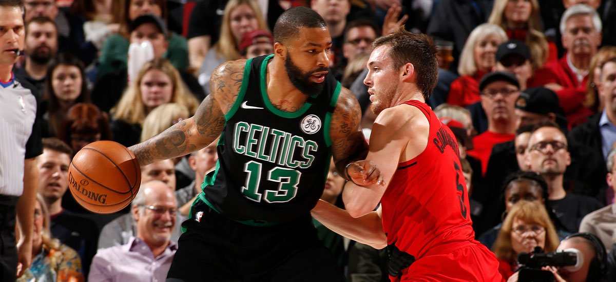 Ballgame!!! The #Celtics once again make a 4th-quarter comeback and take down the Blazers 105-100 on the road. Morris scored a game-high 30pts on 9-for-13 shooting. Rozier: 16pts, 4reb. Tatum: 13pts, 6reb, 4ast.