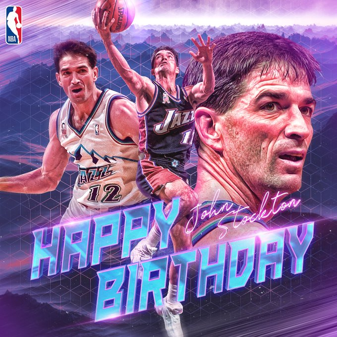 Join us in wishing legend John Stockton a Happy Birthday