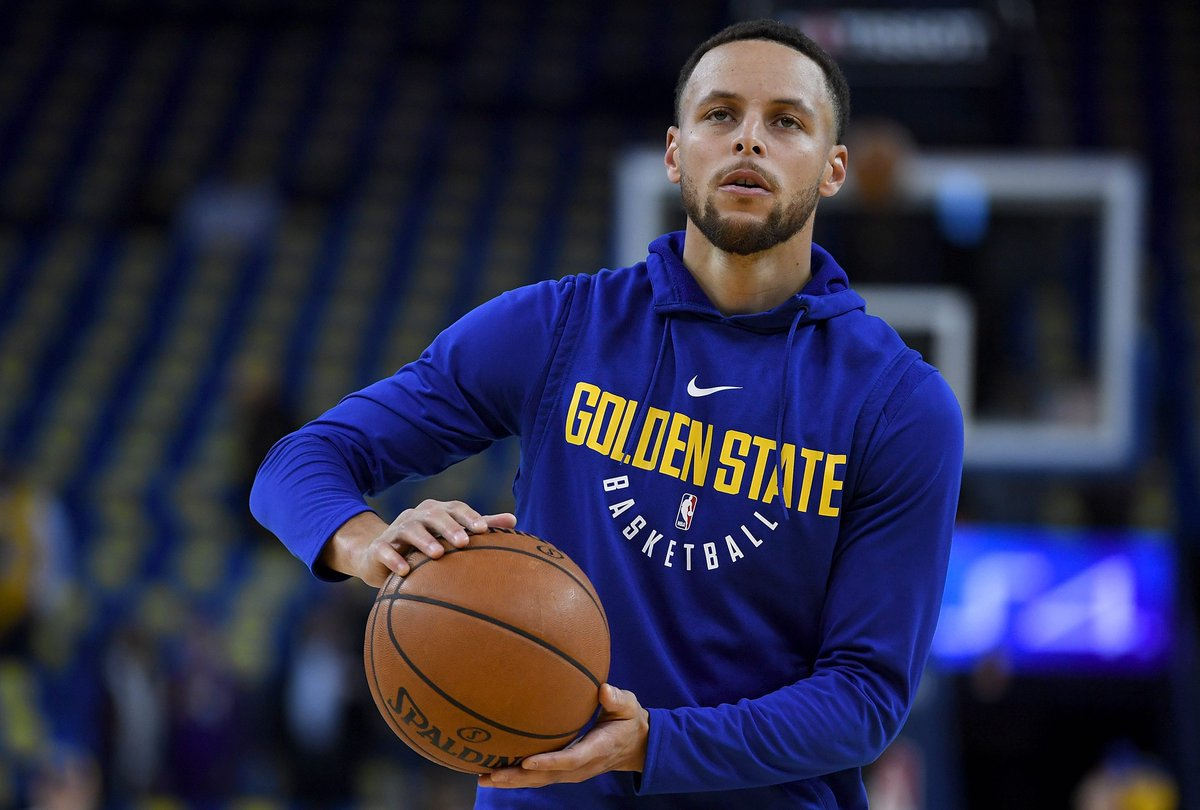 Initial diagnosis for Steph is an injured MCL, will get MRI Saturday, per @ShamsCharania