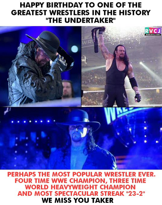 "Happy Birthday ""The Undertaker\"""