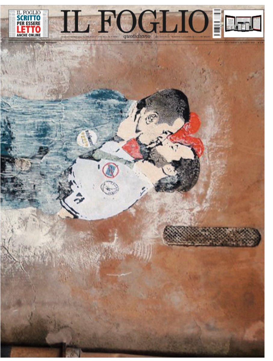 Un bacio che non si può cancellare. Un poster speciale sul Foglio di oggi https://t.co/ow3OKWDwzM
