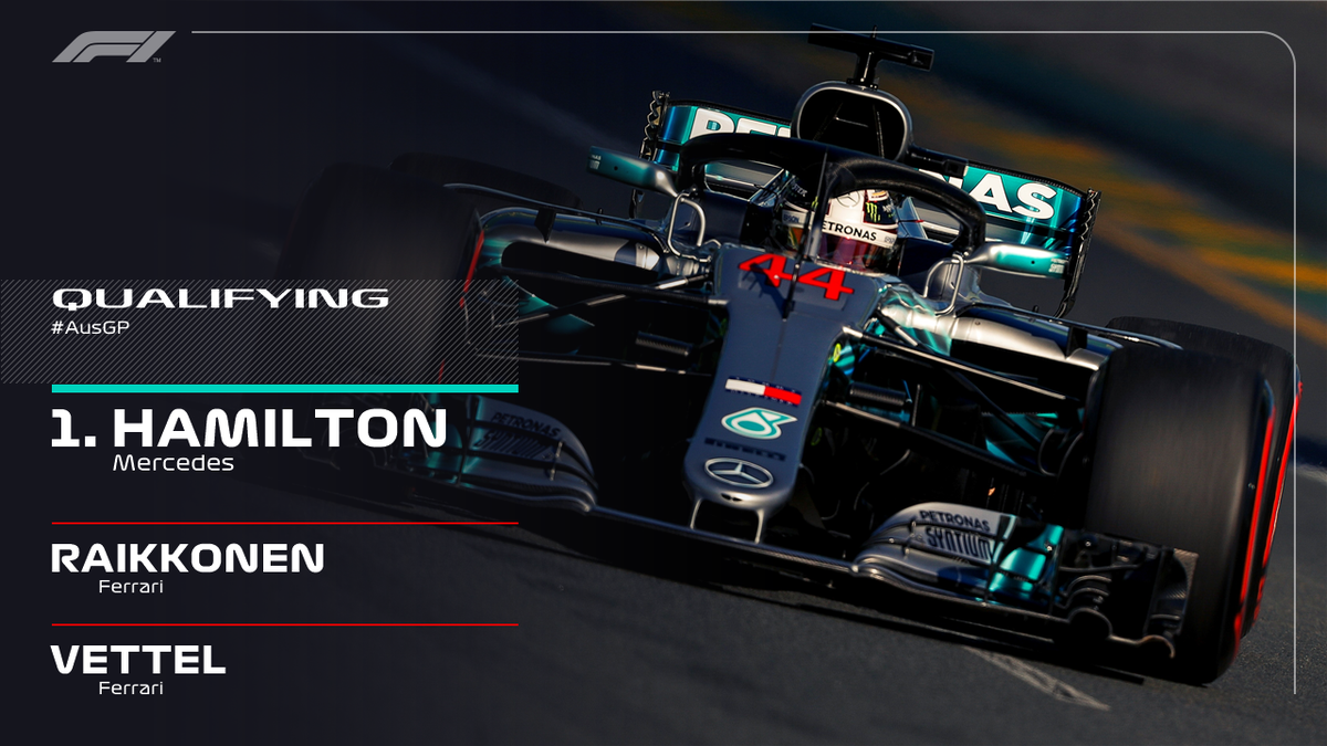 BREAKING: TOP THREE FROM QUALIFYING  Hamilton smashes the lap record to take his SEVENTH Pole in Melbourne 🔥  #AusGP #F1