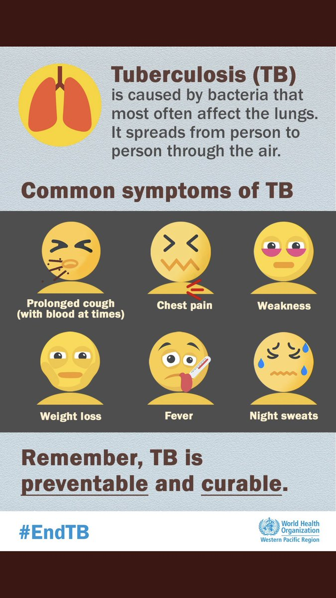 Today is #WorldTBDay2018. Do you know the symptoms? #StNProject
