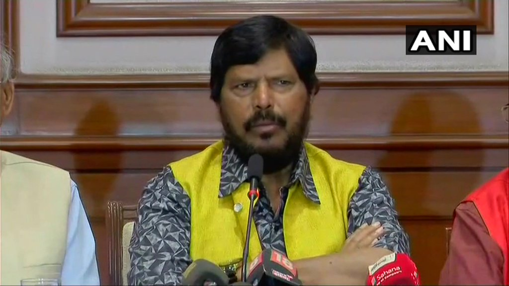 Republican Party of India will file an Intervention/Review petition against Supreme Court's order on SC/ST Act. We are not satisfied with the SC order. There may be some cases of misuse of this Act but it's very protective for marginalised sections: Union Minister Ramdas Athawale