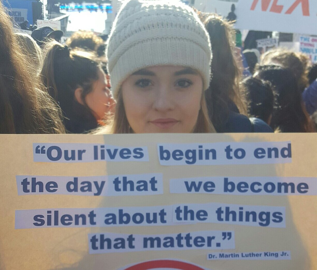 We can no longer be silent! #March for Our Lives Washington Dc 2018 <br>http://pic.twitter.com/36ESn6oSyp