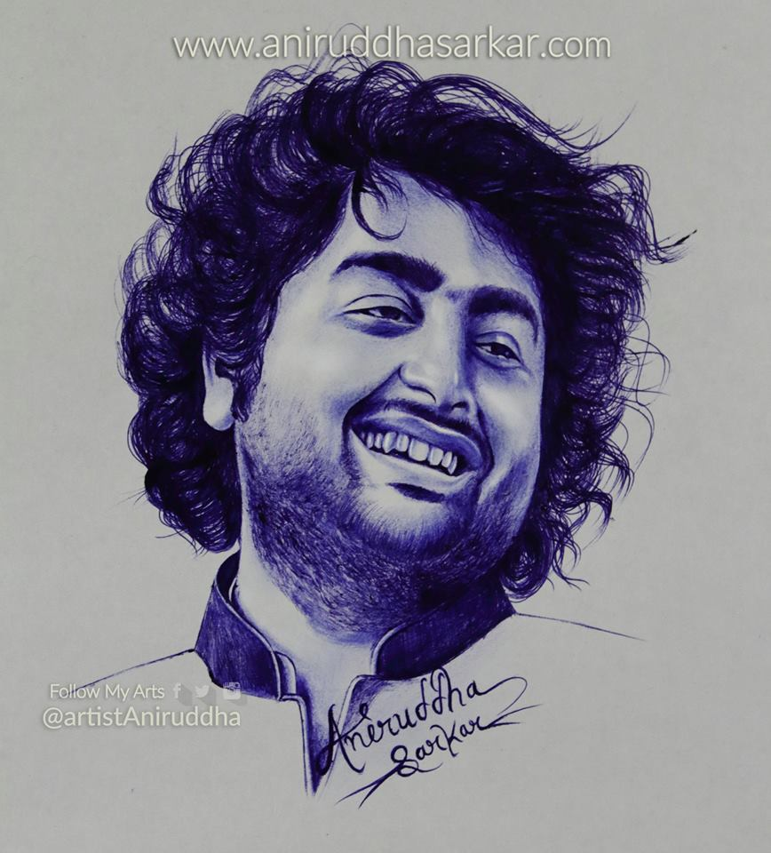 Sketches by me artistaniruddha arijitsingh mumbai musicplusindia mtvindiatour arijitsinghlive arijitsinghinmumbai art sketch artist drawing