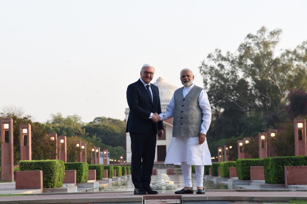 Had the honour of taking the President of Germany, Mr. Frank-Walter Steinmeier to Delhi's Sunder Nursery. We had wonderful discussions on a wide range of issues.