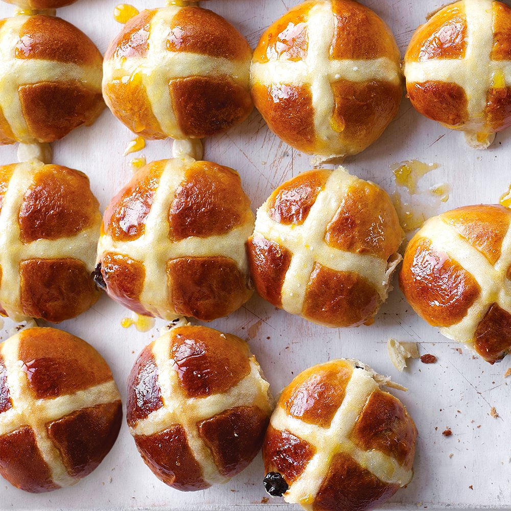 Waitrose waitrose twitter easter essential and ours are easy to make filled with cinnamon and raisins these delicious buns are best served warm with lashings of salty butter negle Gallery