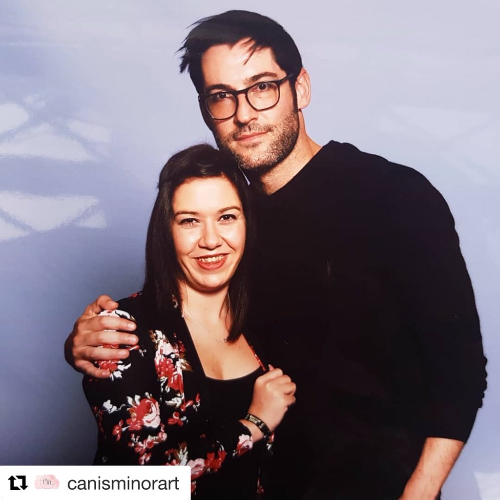 """Magiccon 2018: Tom Ellis Fans 😈💜 On Twitter: """"#Repost @canisminorart With"""