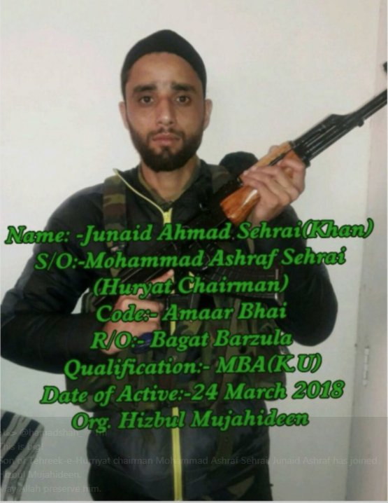 Junaid Sehrai Left Home To Represent Pakistan And Manzoor Dar India Whose War We Are Fighting Who Will Winpictwitter