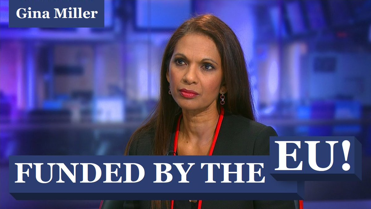 Ever wondered how the nonentity Gina always seems to be on the #TV &amp; became a #Remainer spokeswoman...? #GinaMiller is being funded by #EUmoney &amp; is in secret talks with the #EU to undermine your #BREXIT! She is a truly vile individual! #BBC #LBC @LBC #SKY #UK @Conservatives<br>http://pic.twitter.com/L5HpFplAMe