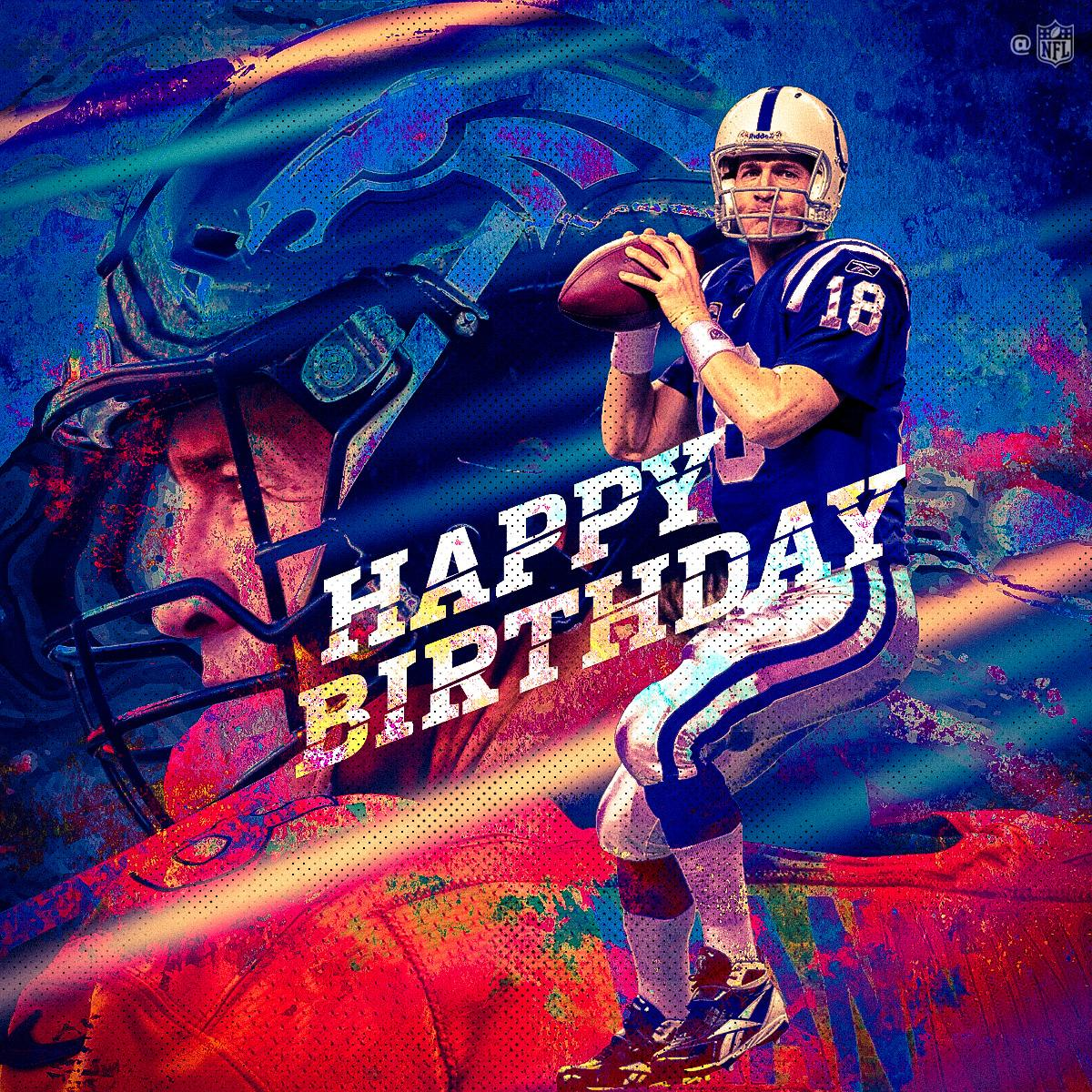 2x Super Bowl champ. 5x MVP. 14x Pro Bowler.  Join us in wishing Peyton Manning a happy birthday!