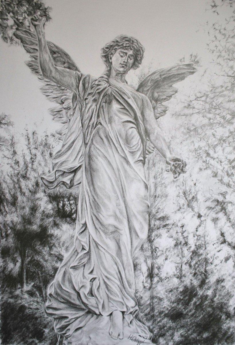 Hannah ostapjuk on twitter guardian angel pencil on paper 2013