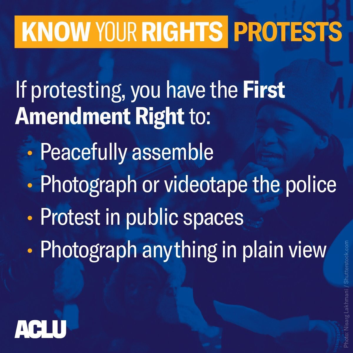 Dissent is patriotic. If you're protesting today, know your rights. #MarchForOurLives