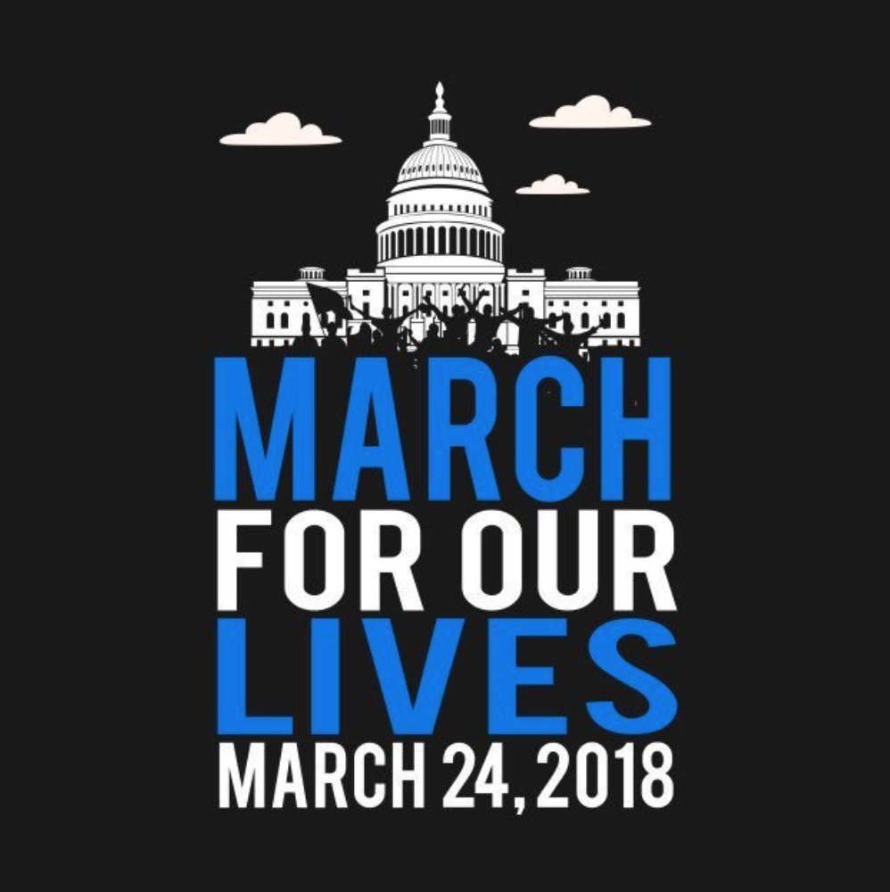 To everyone marching today - thank you for standing up, speaking out and making your voices heard. Together, we will change our nation's gun laws. #MarchForOurLives