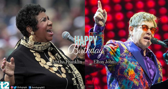 T2 wishes a very happy birthday to two legends -- Aretha Franklin and