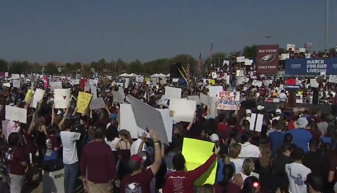 Live on #Periscope: #MarchFor OurLives rally begins in Parkland as thousands gather to push for stricter gun control. https://t.co/WeY84da2hp