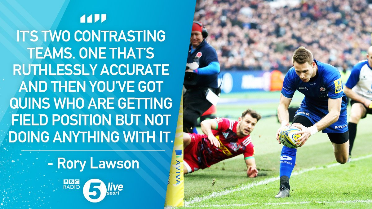 'It's two contrasting teams.'  @rorylawson9 says @Saracens have been more effective in attack so far.  🏉 Saracens 10-3 Harlequins #SARvHAR  📻 https://t.co/NI1sjtGRxI
