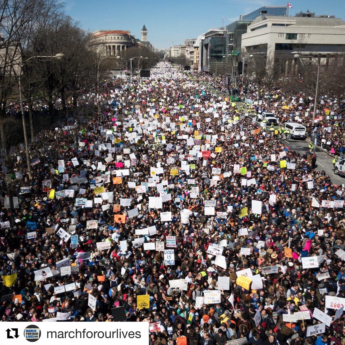 Humbled and proud of this generation taking the lead. Their time is now. #MarchForOurLives