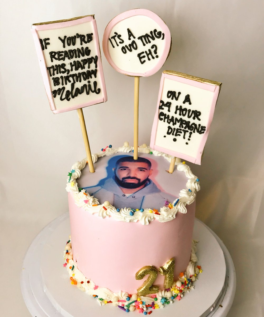 On Twitter Made A Drake Cake Today