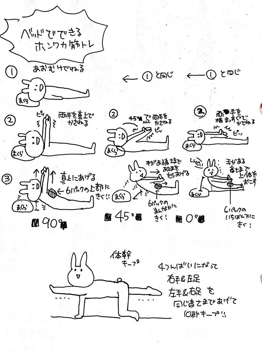 リハビリの先生が教えてくれたホンワカ筋トレの一部だよ!体力も筋肉もない人でもできるゆるふわ腹筋と体幹バランスだよ!
