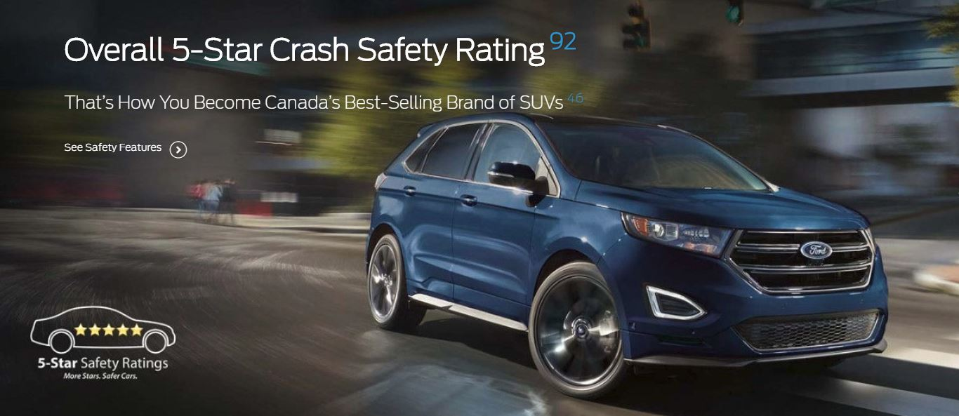 Aspen Ford Sales Ltd On Twitter With The Fordedges Overall  Star Crash Safety Rating Thats How You Become Canadas Best Selling Brand Of Suvs