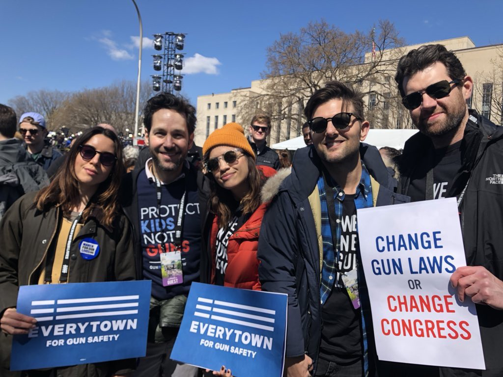 Some Pawnee residents met up in DC for #MarchForOurLives   @evilhag @nataliemorales @billyeichner