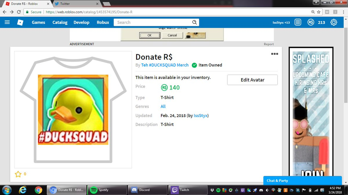 Ducksquad Official Donation Roblox Ayden Taylor Imaydent Twitter
