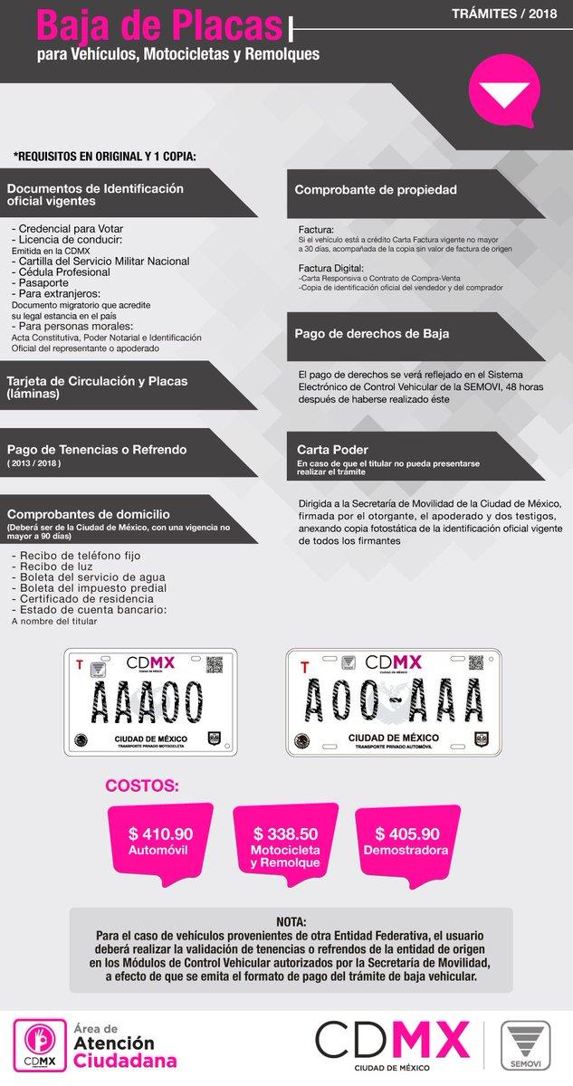 Secretaría De Movilidad Cdmx On Twitter Para Realizar La