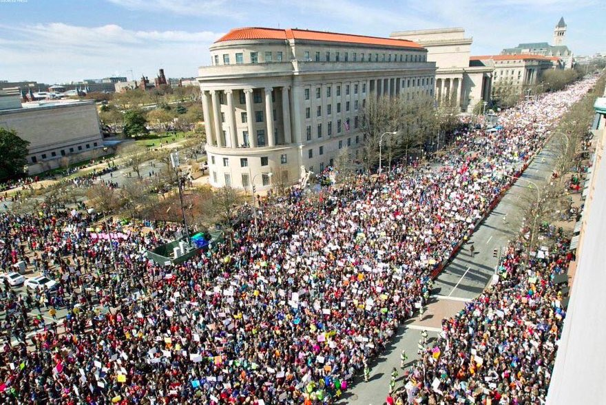 This is what democracy looks like.   #MarchForOurLives