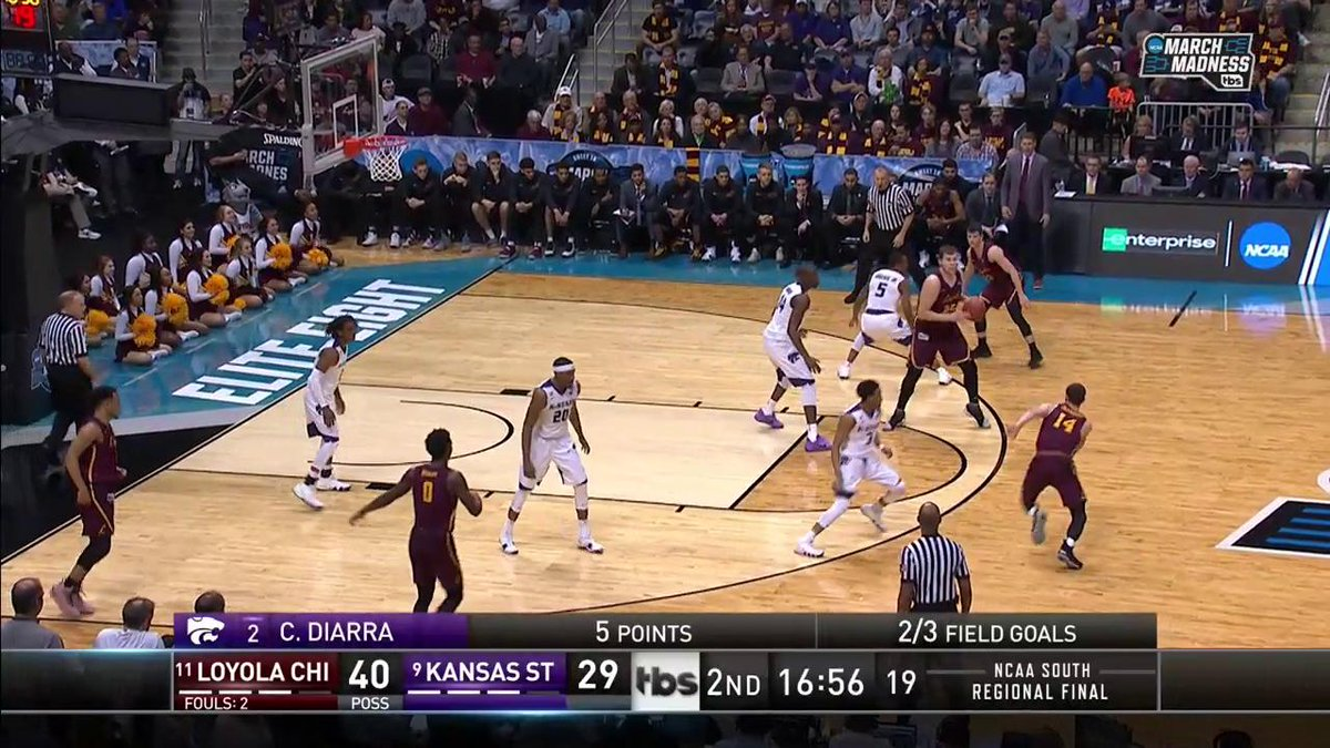 Loyola-Chicago vs  Kansas State: Elite 8 Live Updates, Score