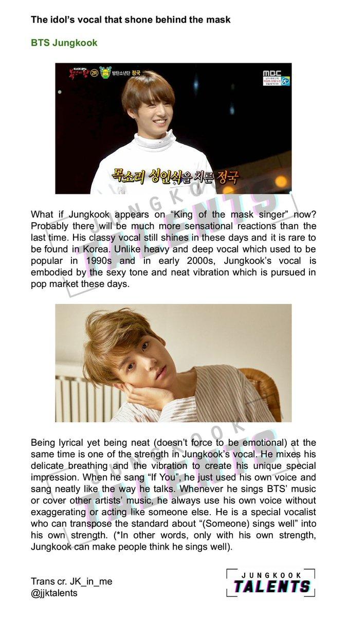 Jungkook Talents on Twitter: