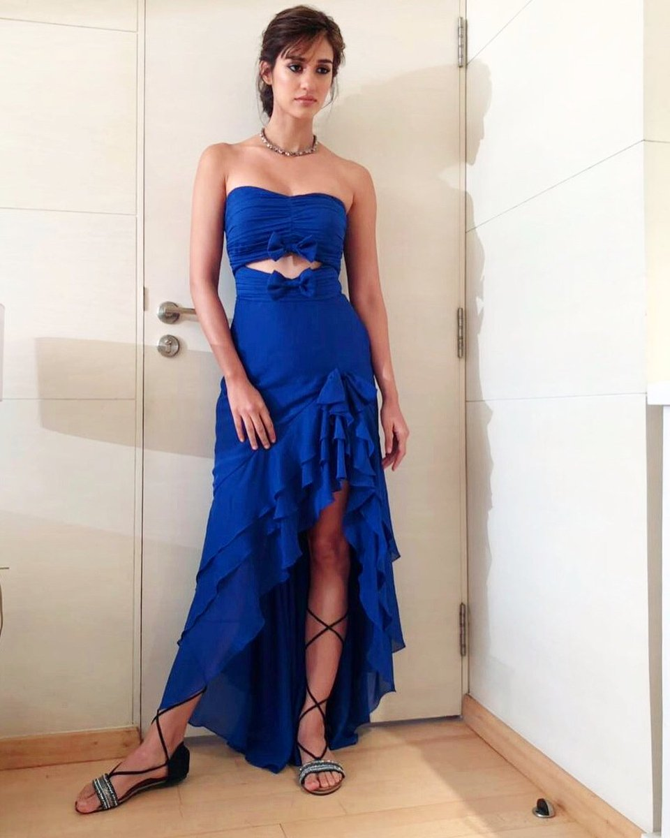 Image result for Disha Patani blue dress