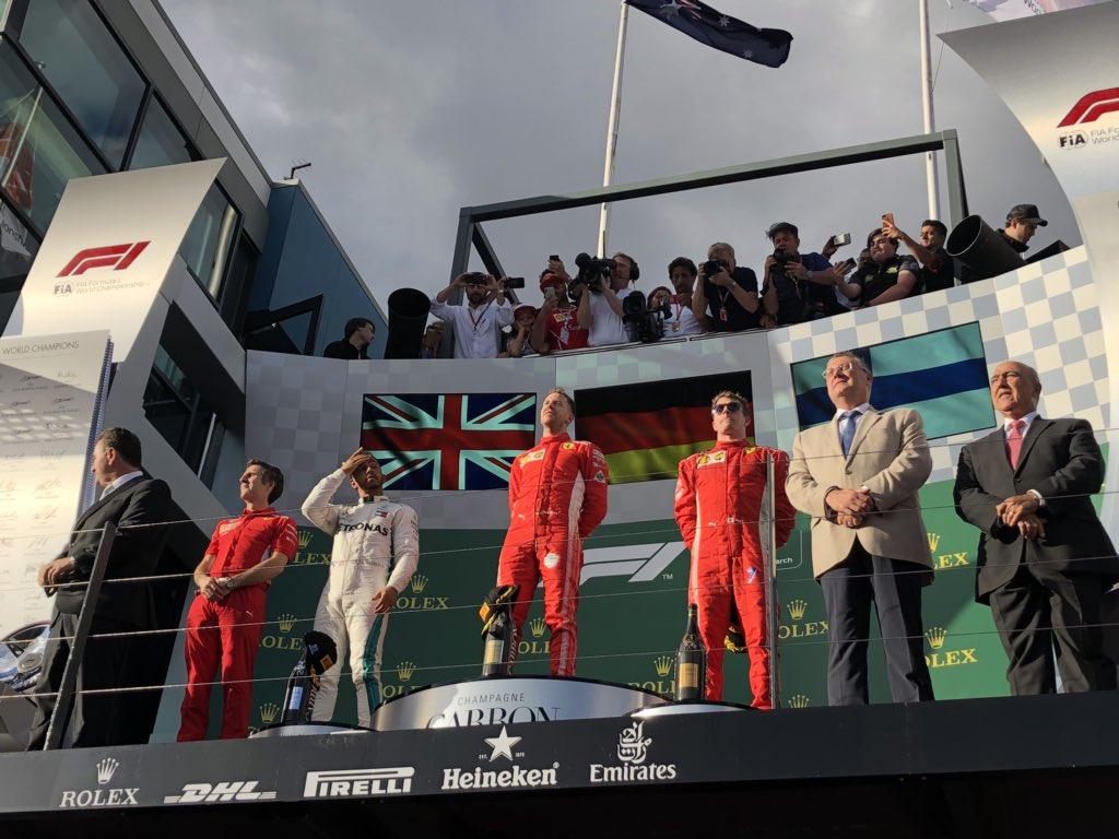 Ausztrál Nagydíj: Vettel nyerte a szezonnyitót, Hamilton és Kimi előtt
