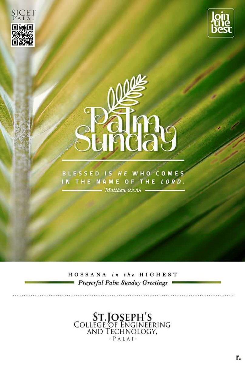 Sjcet palai on twitter prayerful palm sunday greetings sjcet sjcet palai on twitter prayerful palm sunday greetings sjcet sjcetpalai palmsunday engineeringcollege m4hsunfo