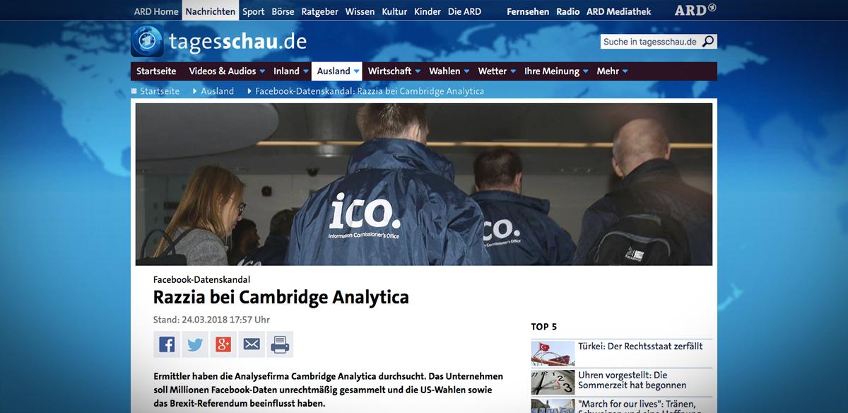"""Politiq: """"Vyšetřovatelé prohledali sídlo firmy Cambridge Analytica."""" #CambridgeAnalytica #Facebook #Londýn #OchranaOsobníchúdajů #VelkáBritánie #Vyšetřování https://t.co/I63y8V4uWY https://t.co/tOjzX1we0H"""