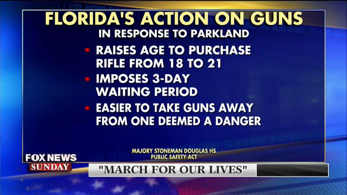 Florida's action on guns since the Parkland shooting. #FoxNewsSunday