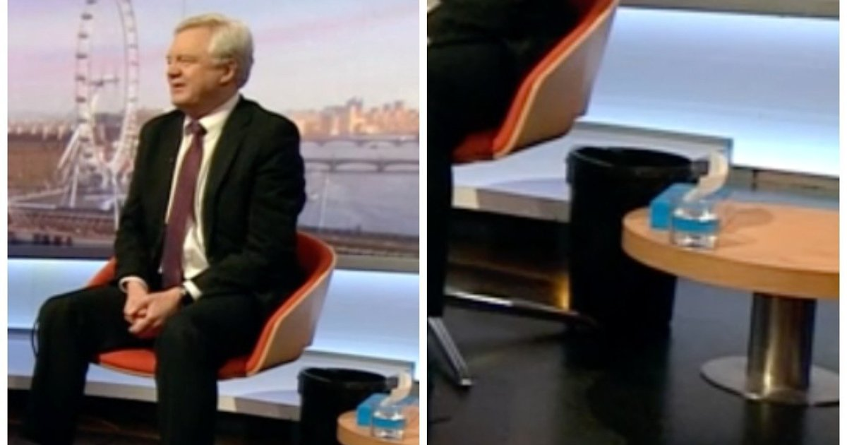 VERY unusual.  It's normally the audience who has a sick bucket when David Davis is talking. https://t.co/emfhlaK0jA