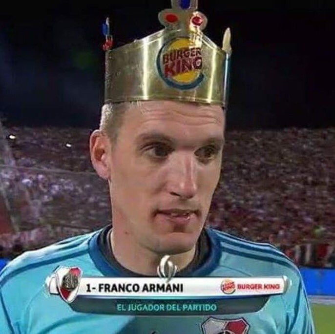 River Plates Goalkeeper Won This Burger King Crown For Winning Man Of The Match In