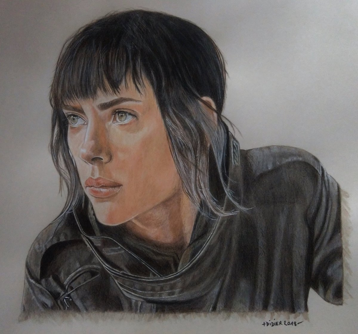 Plouviez Didier On Twitter Ghost In The Shell Major Mira Killian Scarlett Johansson Aquarelle Et Crayons Sur Canson A2 Ghostintheshell Majormirakillian Scarlettjohansson Fanart Ghostintheshellfanart Ghostintheshelldrawing Drawing