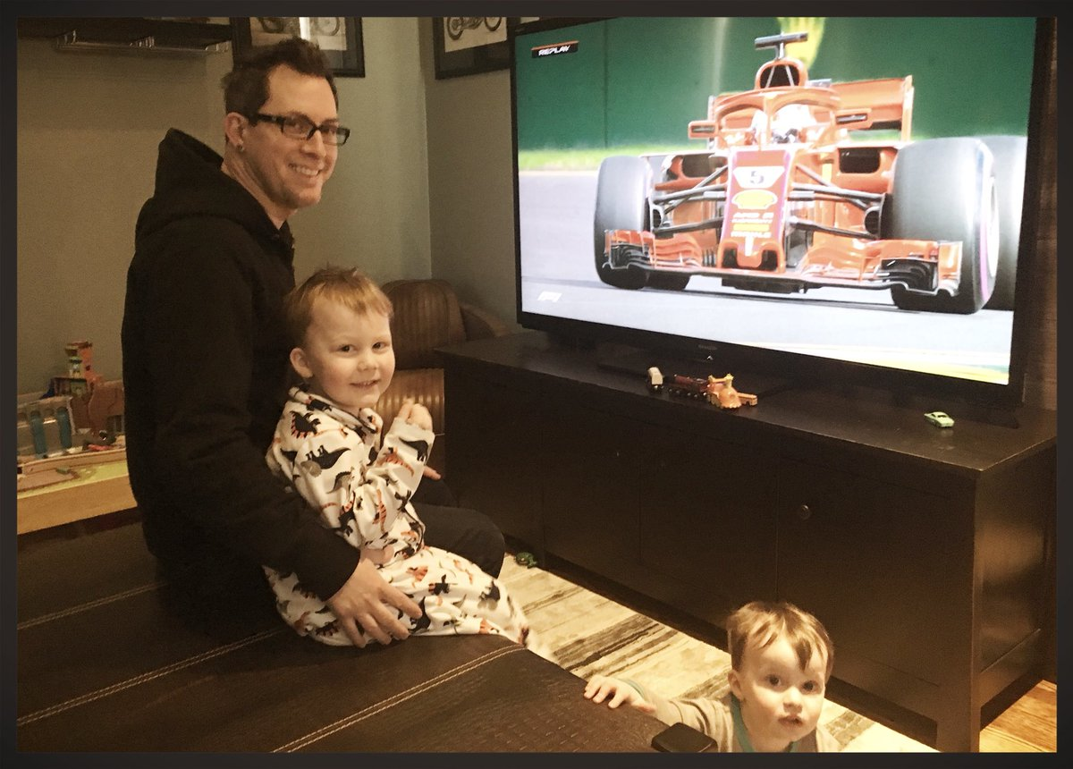 Kicking off one of our favorite family traditions- F1 2018. Hoping ESPN can figure out broadcasting so F1 fans don't miss races this season. @F1 @espn