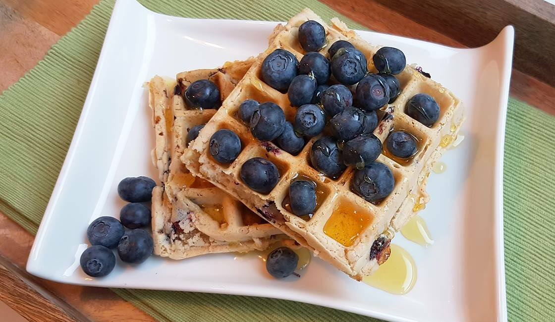It&#39;s Waffle Day today! Fancy celebrating with some yummy waffles for dessert tonight? Check out our brand new Blueberry Waffle recipe here:  https://www. vitafriendspku.com/en/recipes/blu eberry-waffles/ &nbsp; …  #pku #pkurecipes <br>http://pic.twitter.com/lzHyFWyjO6