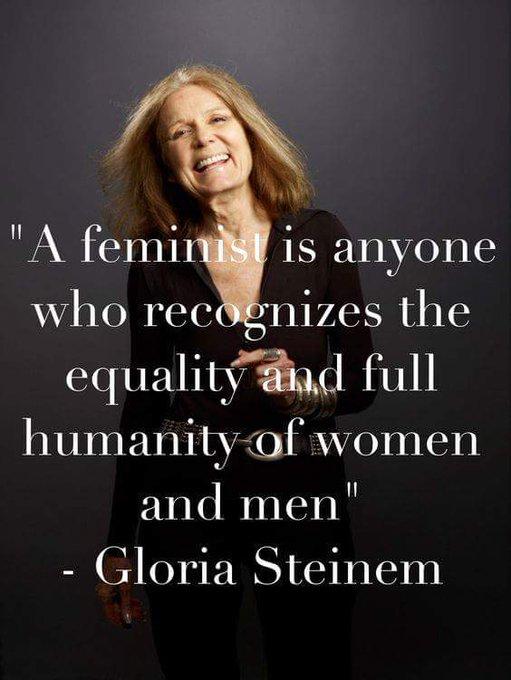 Happy birthday to Gloria Steinem