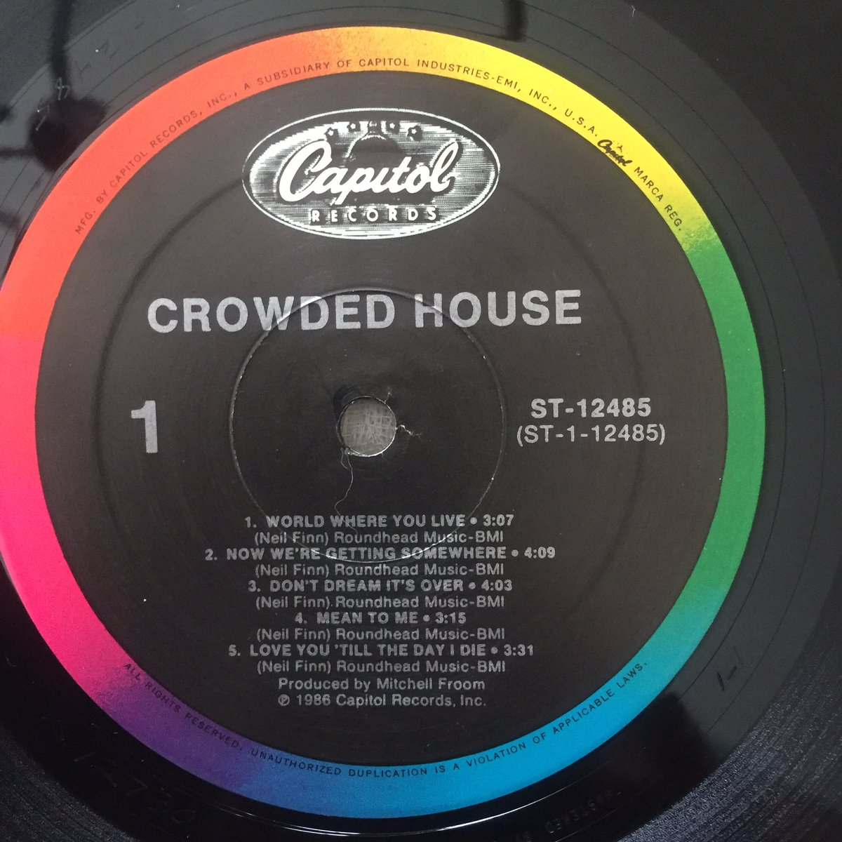 Pleasing Variations On Vinyl On Twitter Atoz Crowdedhouse 1986 Home Remodeling Inspirations Cosmcuboardxyz